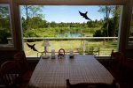 Beautiful view of Kettle Pond from dining table